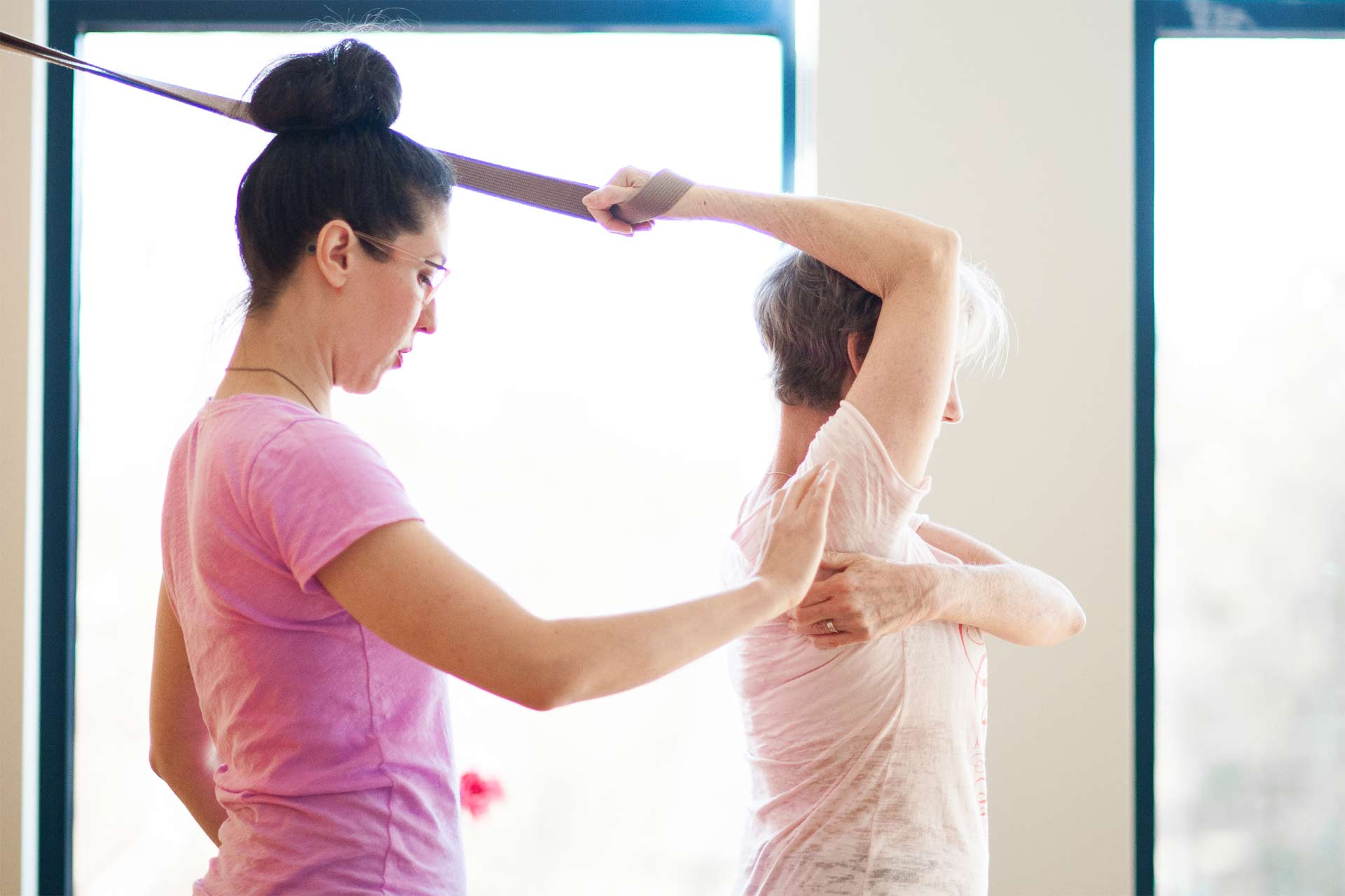 Neck and Shoulder Work using the Great Yoga Wall