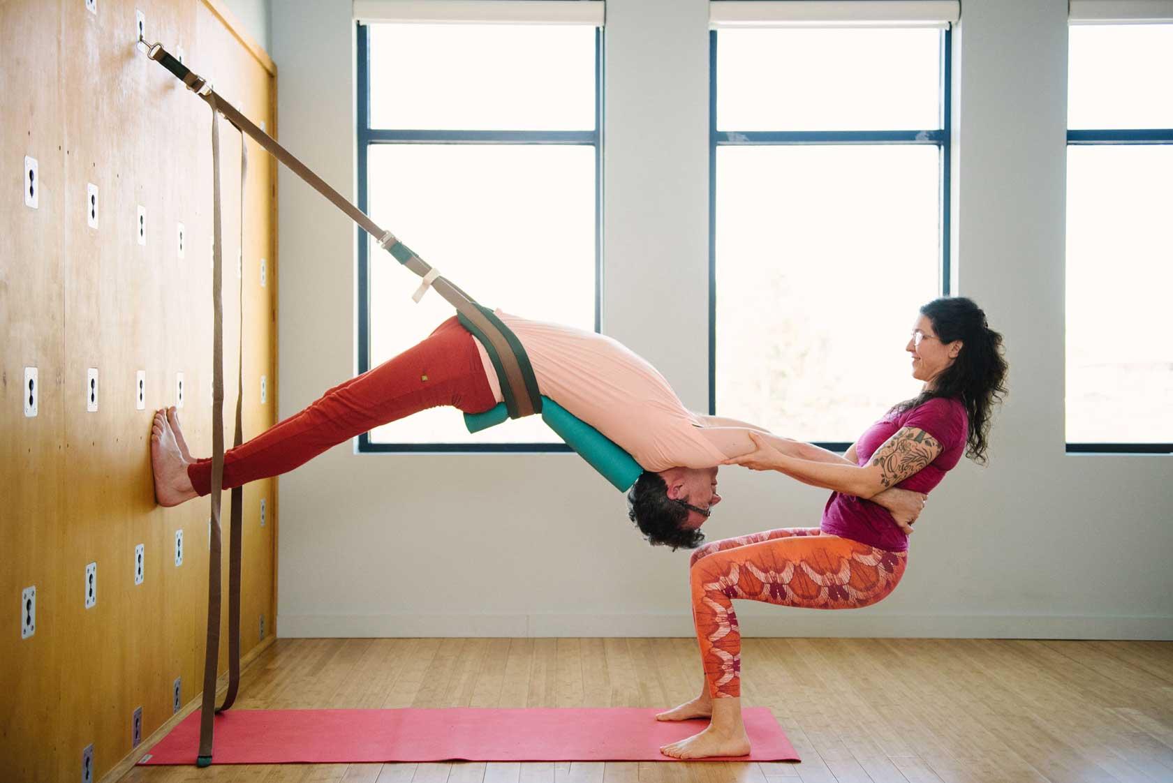 Backbend on the Yoga Wall   Live Yoga Now