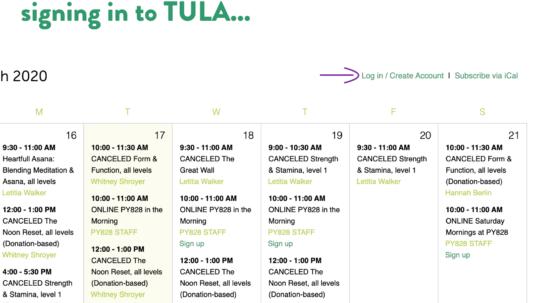 Tula LogIn Tutorial | Purna Yoga 828